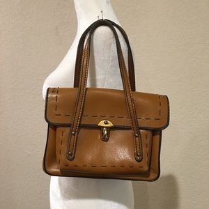 Vintage 70s leather satchel